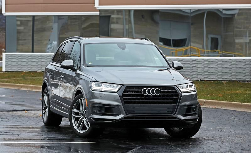 2018 Audi Q7 Body Kit Blue Bolt Pattern Grill Gas Mileage