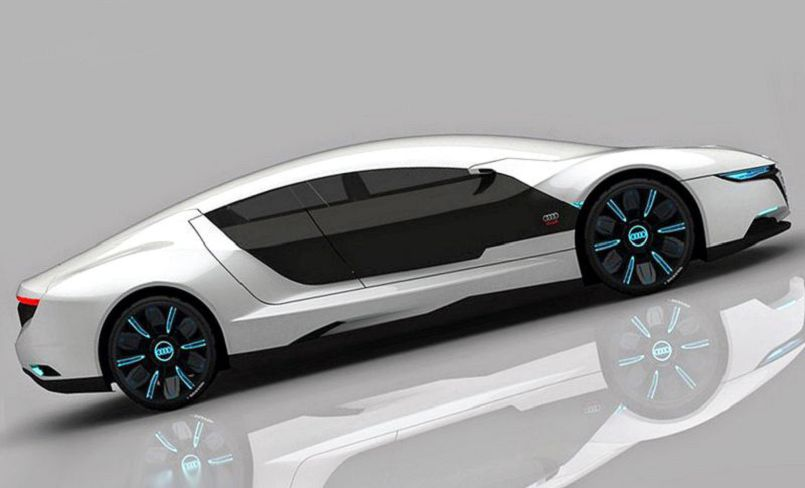 Audi A9 Concept Model 6.3 Liter White