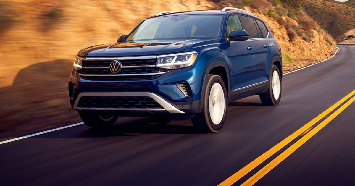 2021 Vw Atlas S White R Line 2020 2019 Lease Wheels 20 Headlight Running