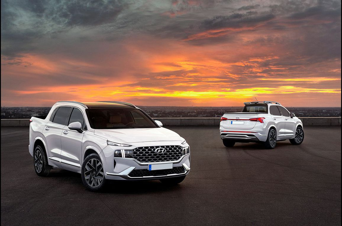 2022 Hyundai Santa Cruz Interior Pickup Truck Sneak Photos