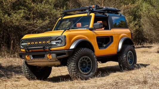 2022 Ford Bronco 4 Door Sport Interior 2 Door