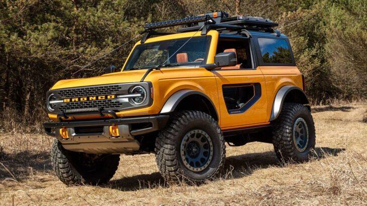 2022 Ford Bronco 4 Door Sport Interior 2 Door