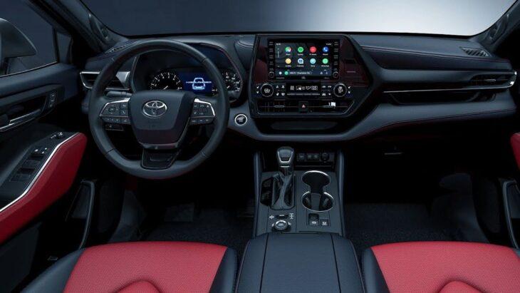 2022 Toyota Highlander Inside Black And Red Changes Images